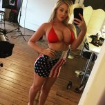 amateur photo Beth Lily feeling patriotic