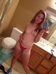 amateur photo Polka dot panties and nice titties