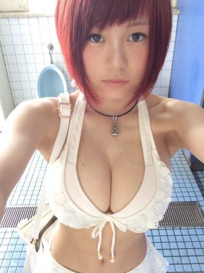 amateur photo Bursting Asian Redhead