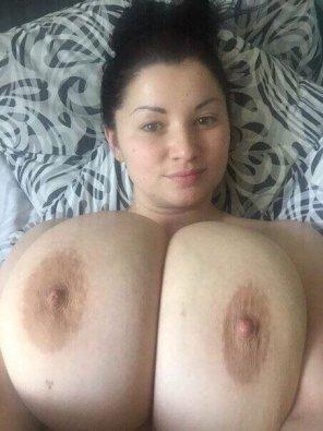 amateur photo On her back