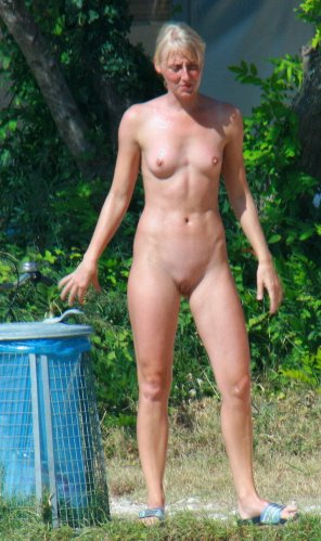 amateur photo Blonde Outdoor