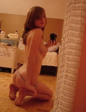amateur photo On her knees the way she likes it