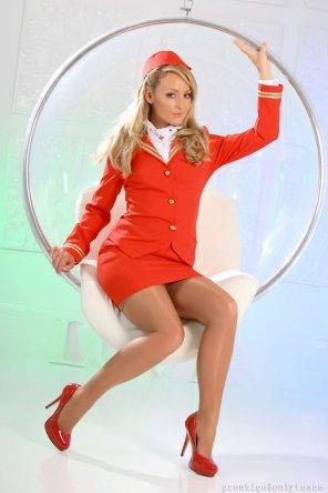 amateur photo Sexy flight attendant