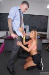 amateur photo Gianna Nicole on her knees for the professor
