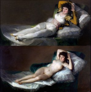amateur photo Maja Desnuda by Francisco Goya