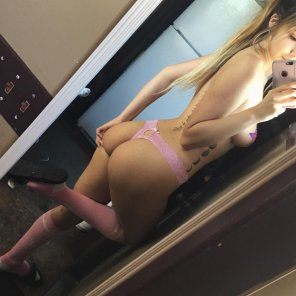 amateur photo Pink thong & pasties