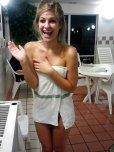 amateur photo Cute bathtowel girl