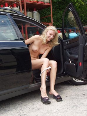 amateur photo Shy blonde