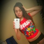 amateur photo Marvel Shirt and Boyshorts