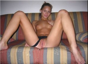 amateur photo In the sofa