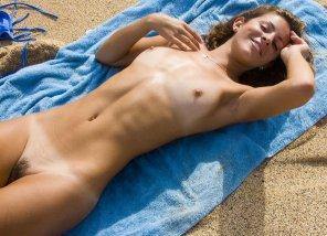 amateur photo On beach