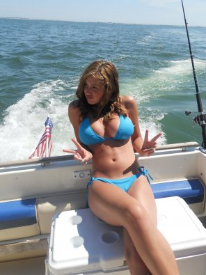 amateur photo On a Boat