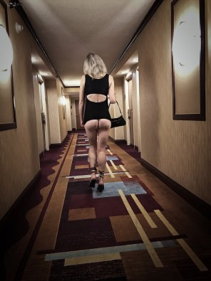 amateur photo My girlfriend walking back to the room at 4am