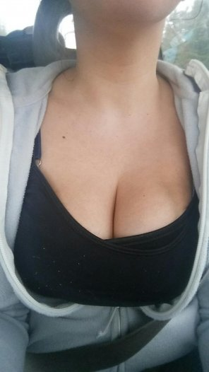 amateur photo Showing some cleavage