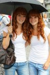 amateur photo Redhead Twins