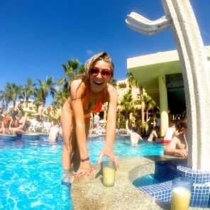 amateur photo Happy at the pool