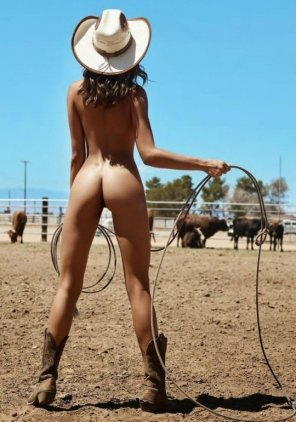 amateur photo Cowboy woman