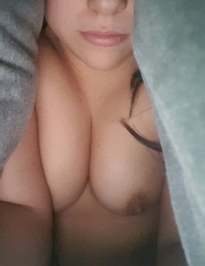 amateur photo Hiding in the covers