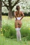 amateur photo In a flower field