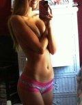 amateur photo Beautiful blonde in her little pink panties