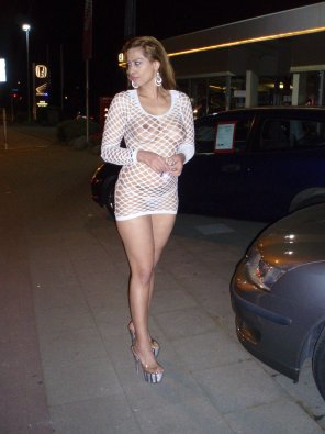 amateur photo White Fishnet Dress