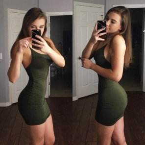 amateur photo tiny waist, sexy ass, cute dress