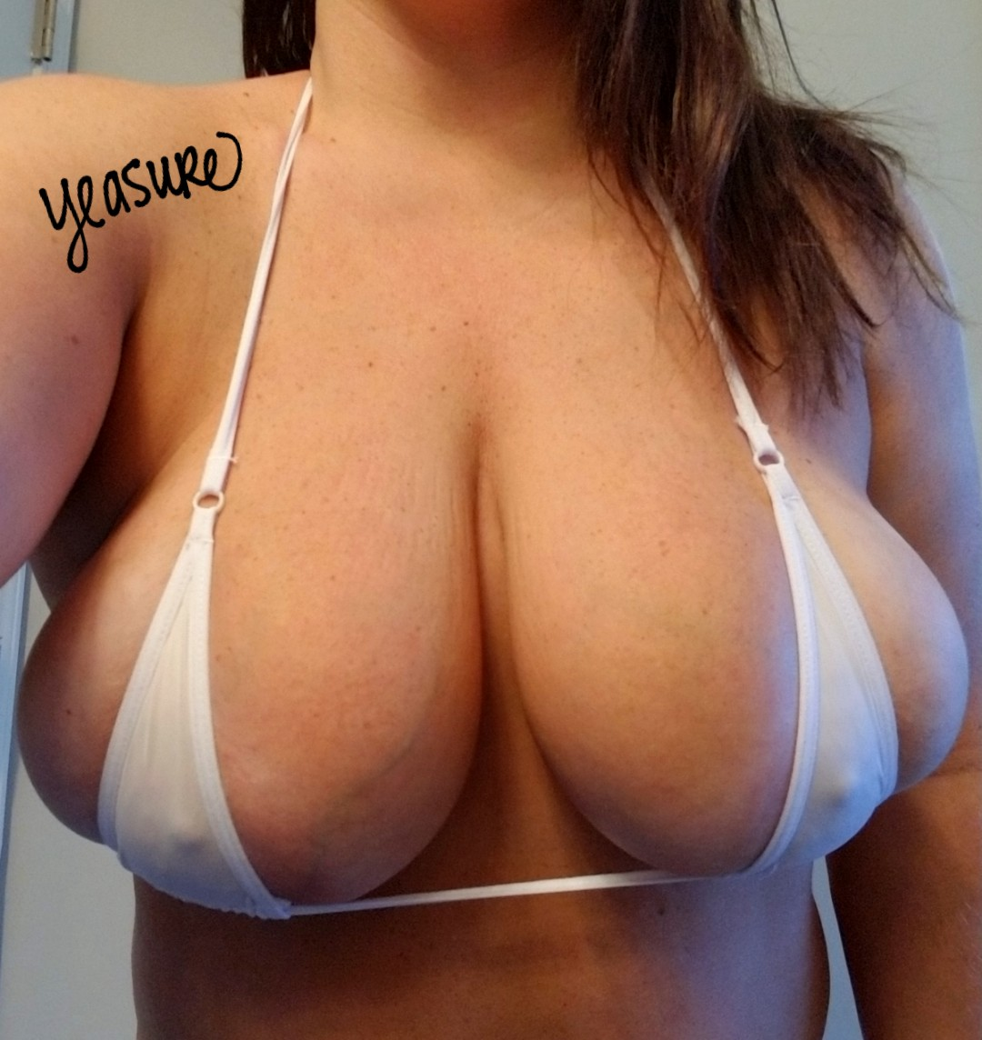 Huge tits in micro bikini