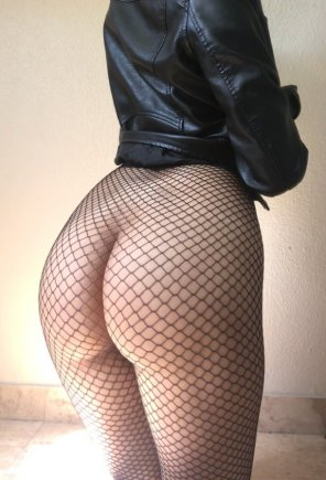 amateur photo My ass looks good in fishnet