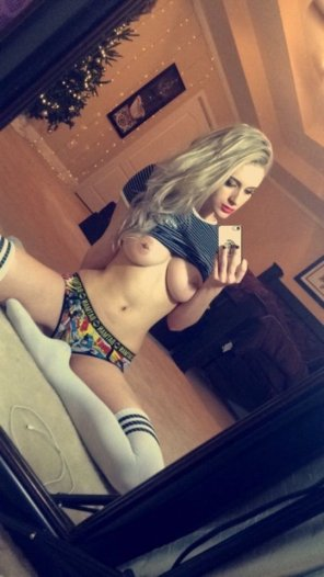 amateur photo Thigh Highs, Cotton Panties and Titties