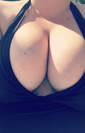 amateur photo Not sure this swimsuit is family function friendly 😬
