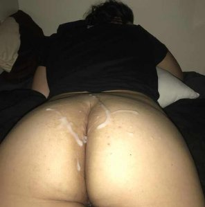amateur photo Cum slap my ass