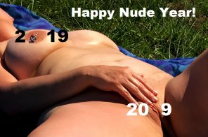 amateur photo Happy Nude Year! - From the Wife