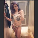 amateur photo Picturehow do her tattoos look?