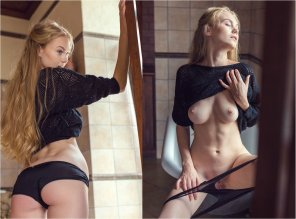 amateur photo Blonde on/off