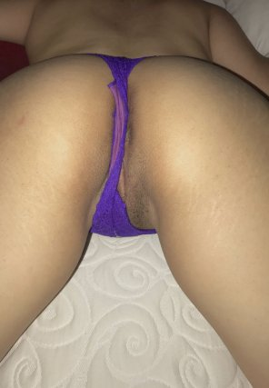 amateur photo Wifey with panties pulled to the side