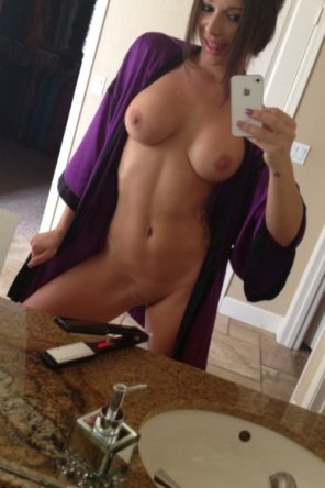amateur photo Purple robed hottie