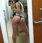amateur photo Hottie in the mirror