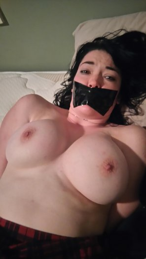 amateur photo Found a new slut to use in the evenings. Had to tape her mouth shut, she kept talking back.