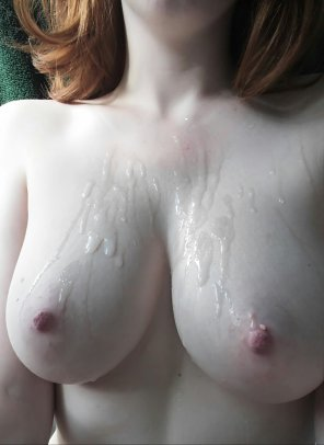 amateur photo My boyfriend saw, he conquered, he came.... On my tits