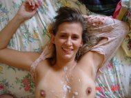 amateur photo semen on tits