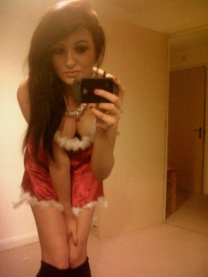 amateur photo Santa Baby