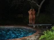 Caught skinny dipping