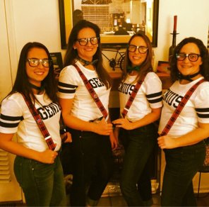 amateur photo Sexy nerd girls for Halloween
