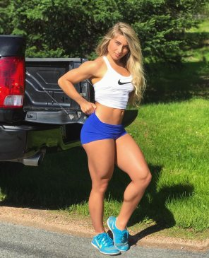 amateur photo Carriejune in shorts in is a good thing