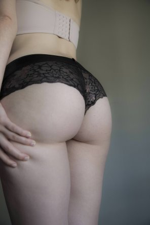 amateur photo I love the way these panties look, do you like them too?