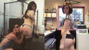 amateur photo Bikini Barista - Keshia