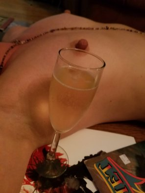 "amateur photo ""I'm not much into yoga. I am into champagne..."""