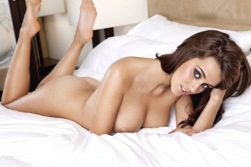 Naked on a hotel bed. Porn Photo