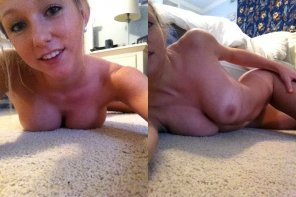 amateur photo Cute blond on the floor