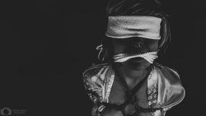 amateur photo Teen bound, gagged, and blindfolded to be taught a lesson